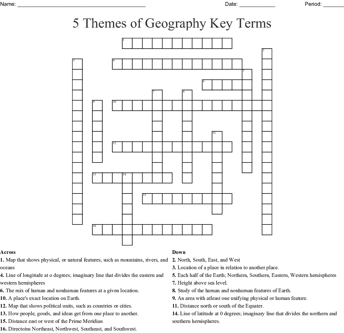 Geography Puzzle Worksheet