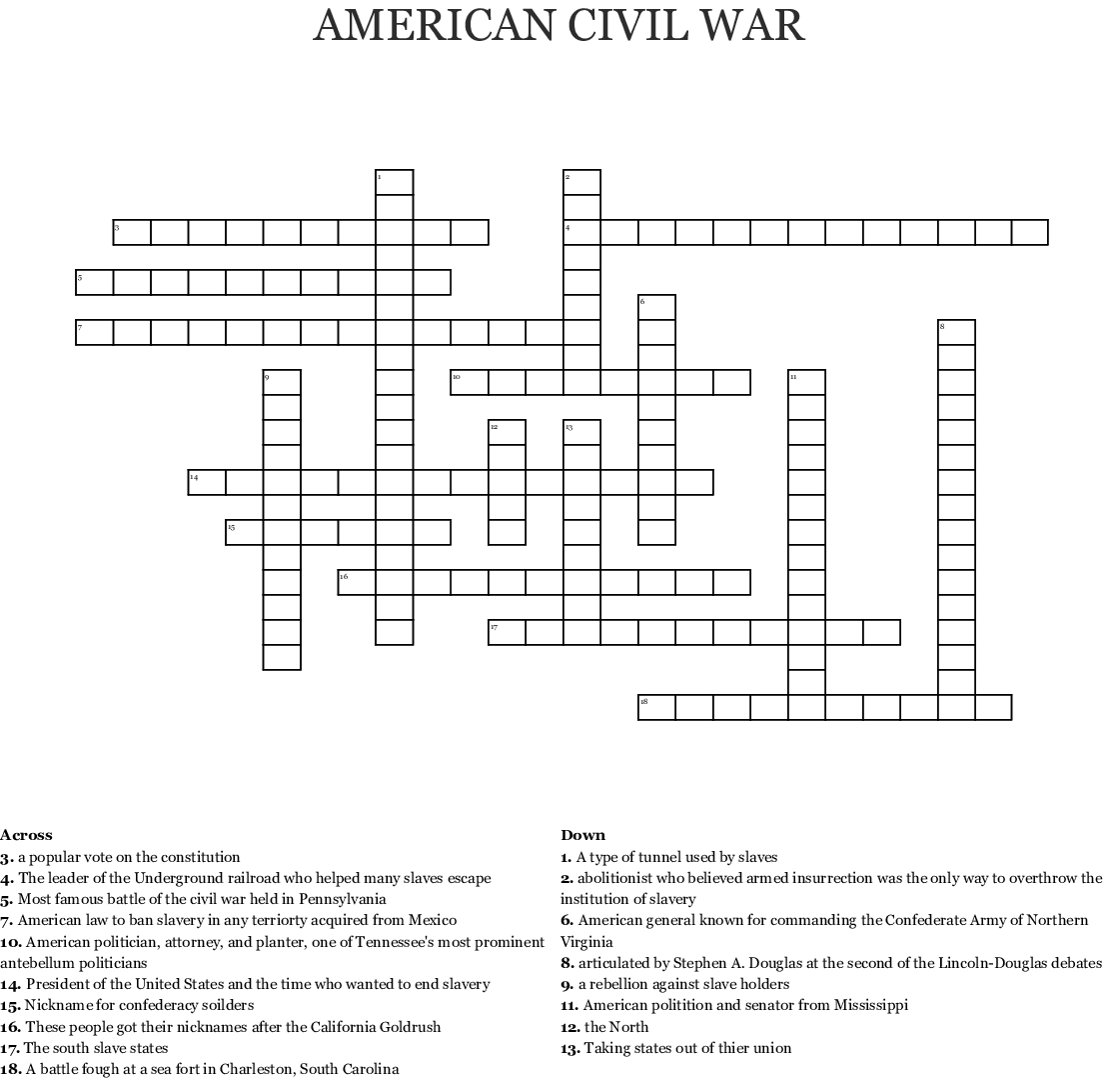 America The Story Of Us Civil War Worksheet Answer Key