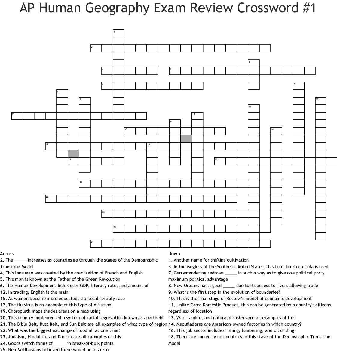 Chapter 4 7 Crossword
