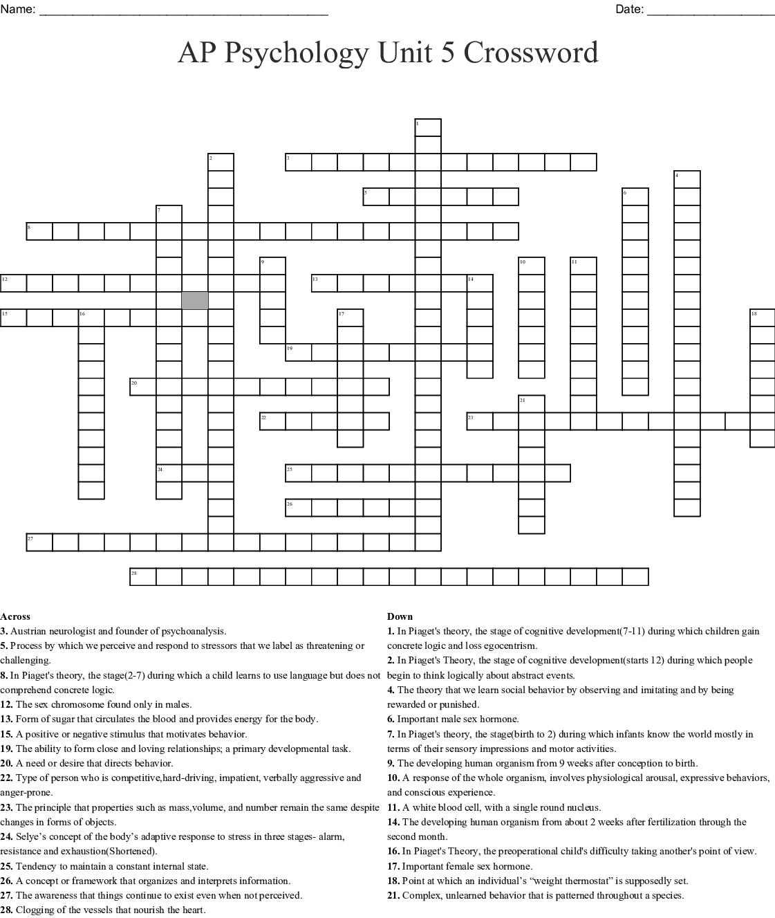 Chapter 6 Crossword
