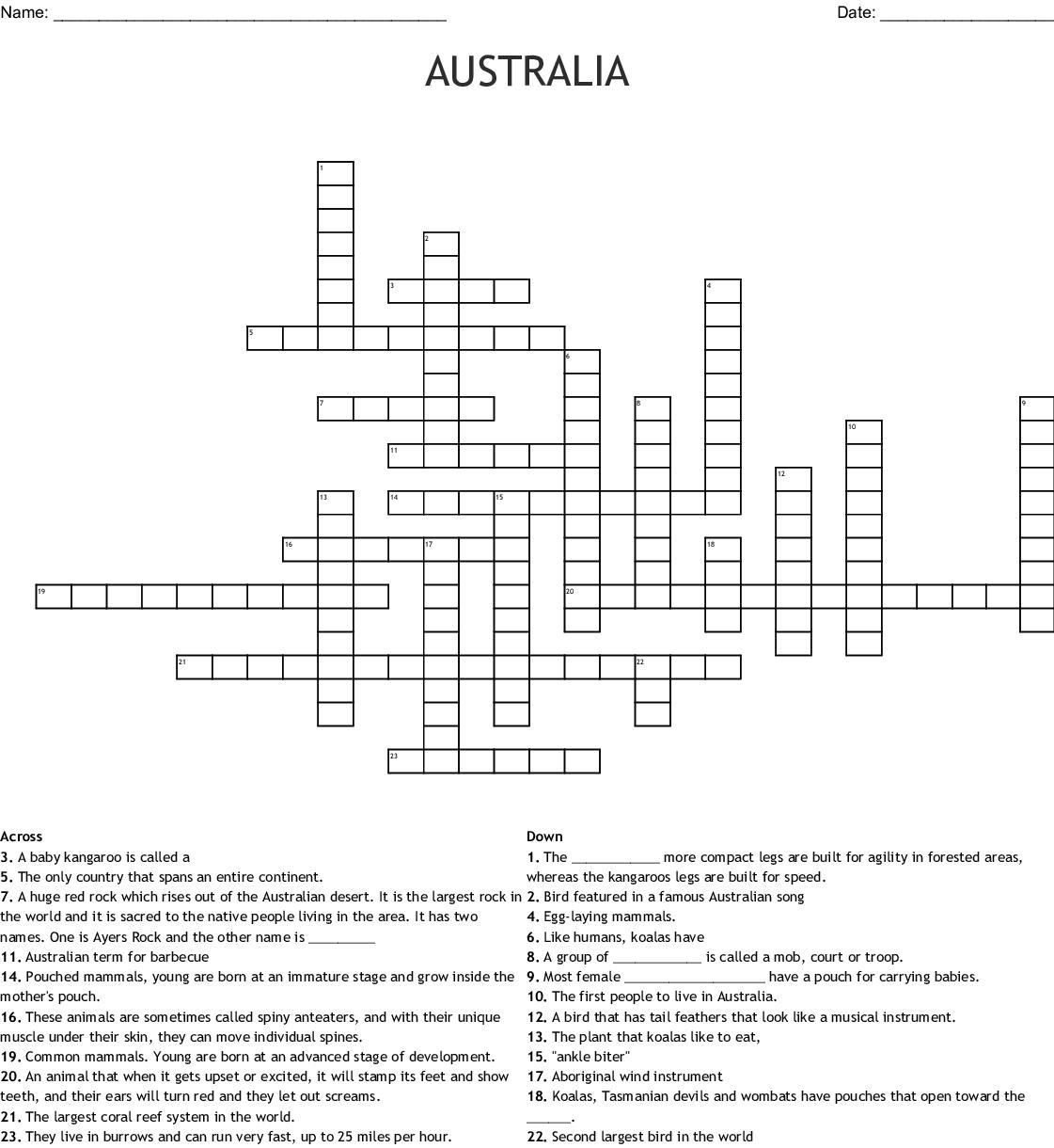 Aboriginal Word Search