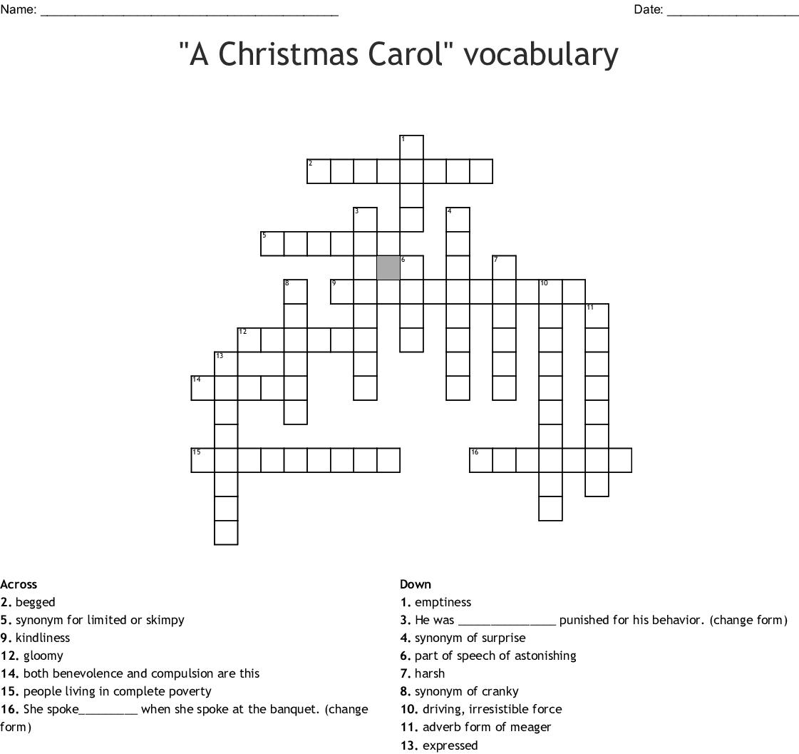 A Christmas Carol Vocabulary