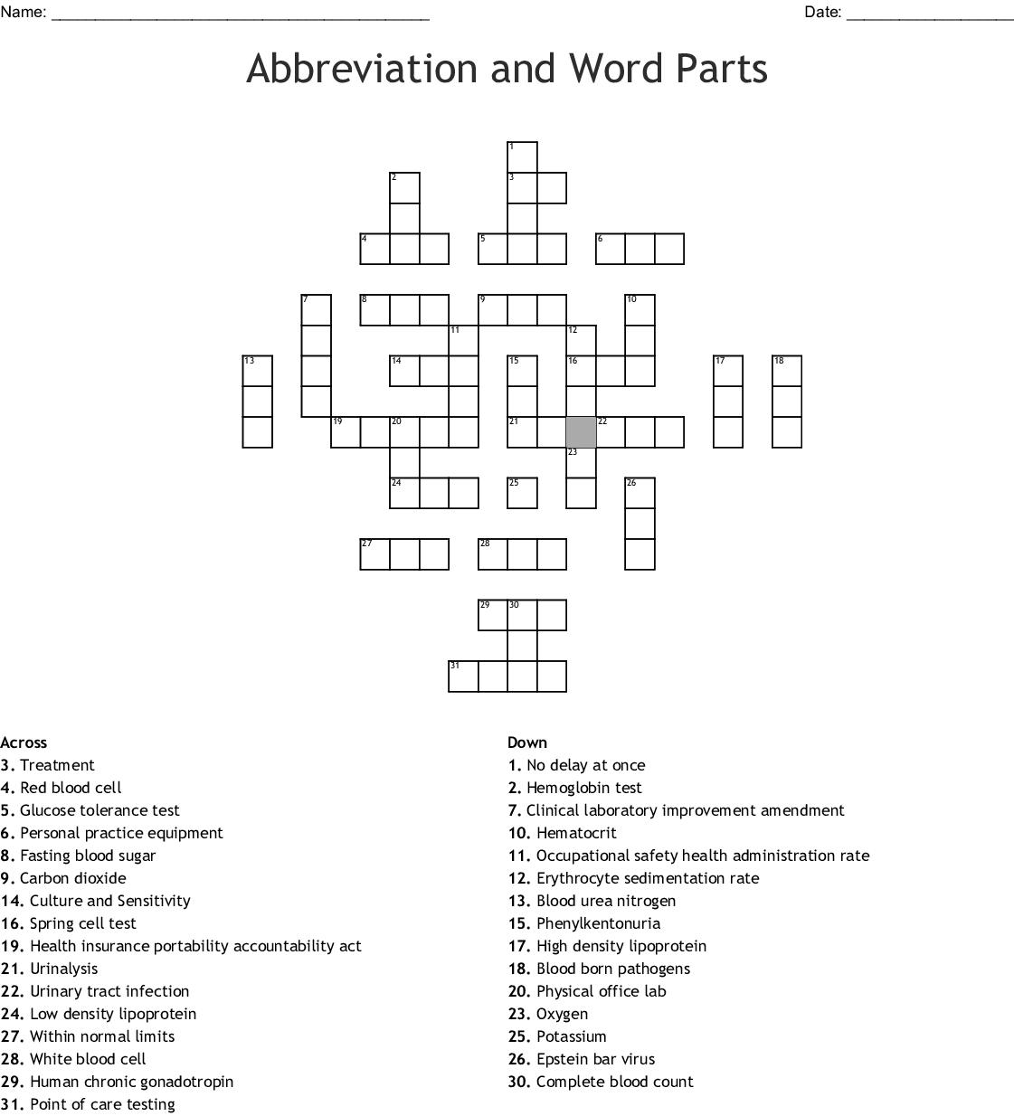 Phlebotomy Worksheet