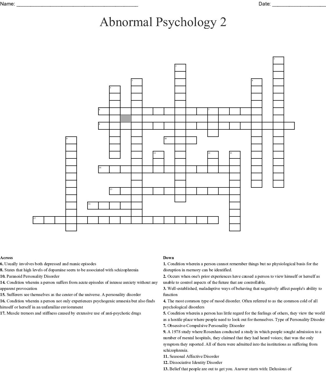 Depression Mental Health Worksheet