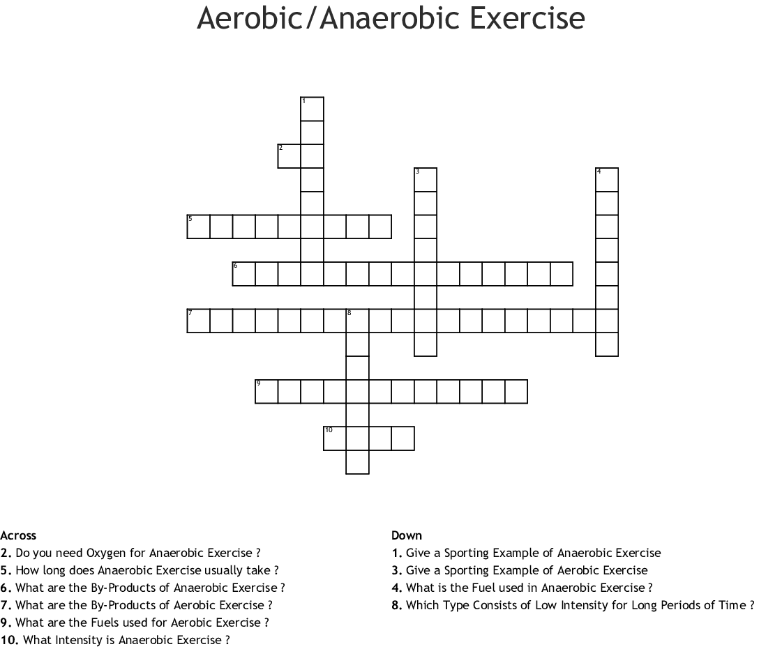 Energy Systems Crossword