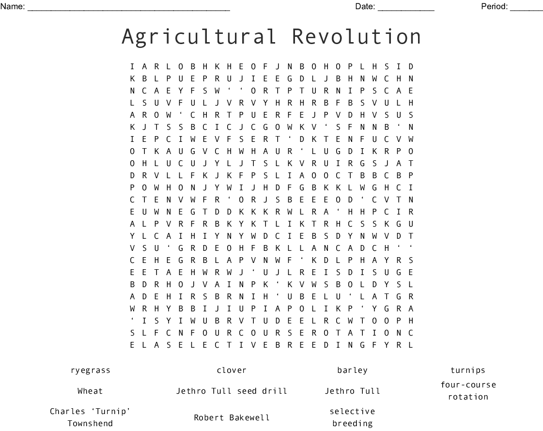 Agriculture Amp Forestry Crosswords Word Searches Bingo