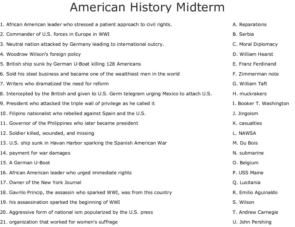 History Crosswords Word Searches Bingo Cards