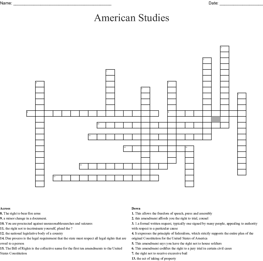 Chapter 5 Study Guide Crossword