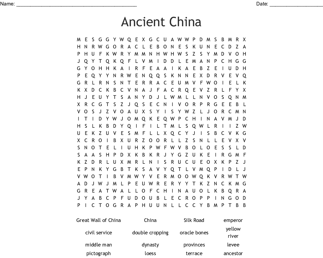 River Dynasties In China Worksheet Answers