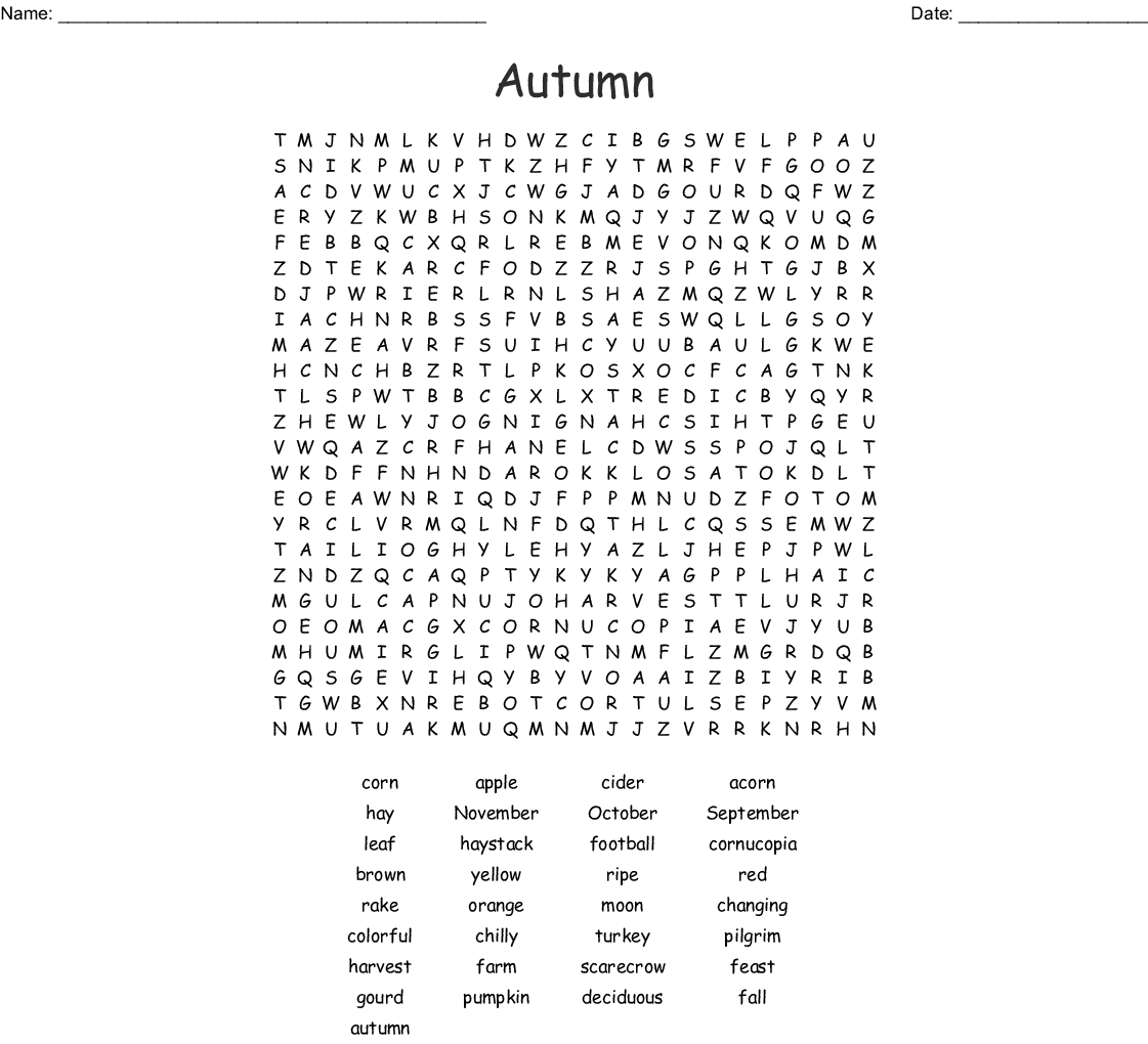 Mid Autumn Festival Word Search