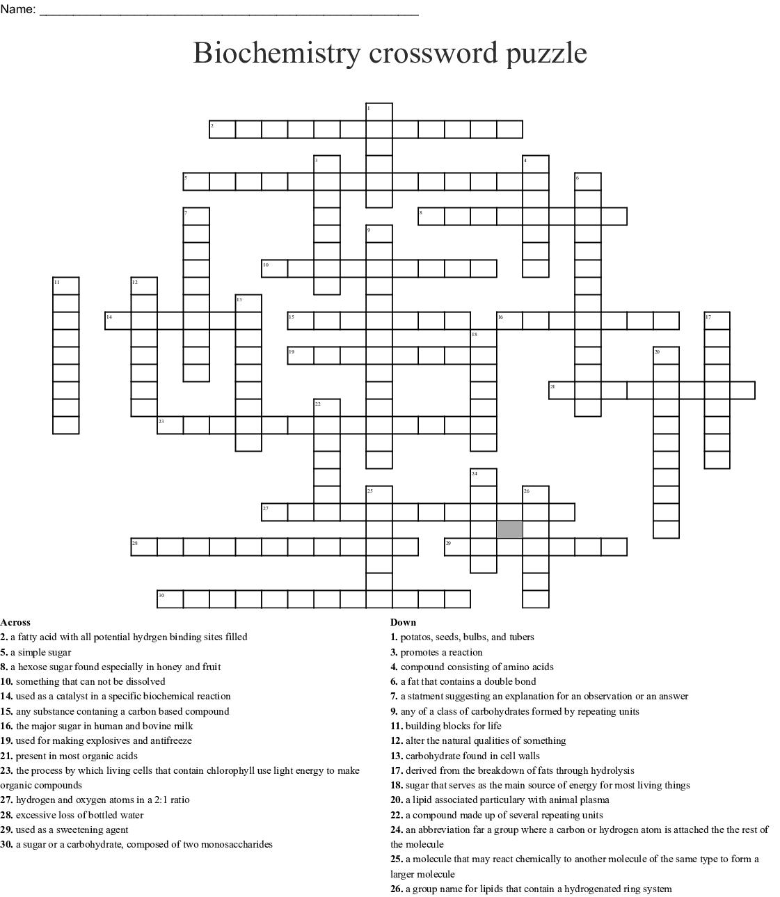 Biochemistry The Composition Of Living Matter Worksheet
