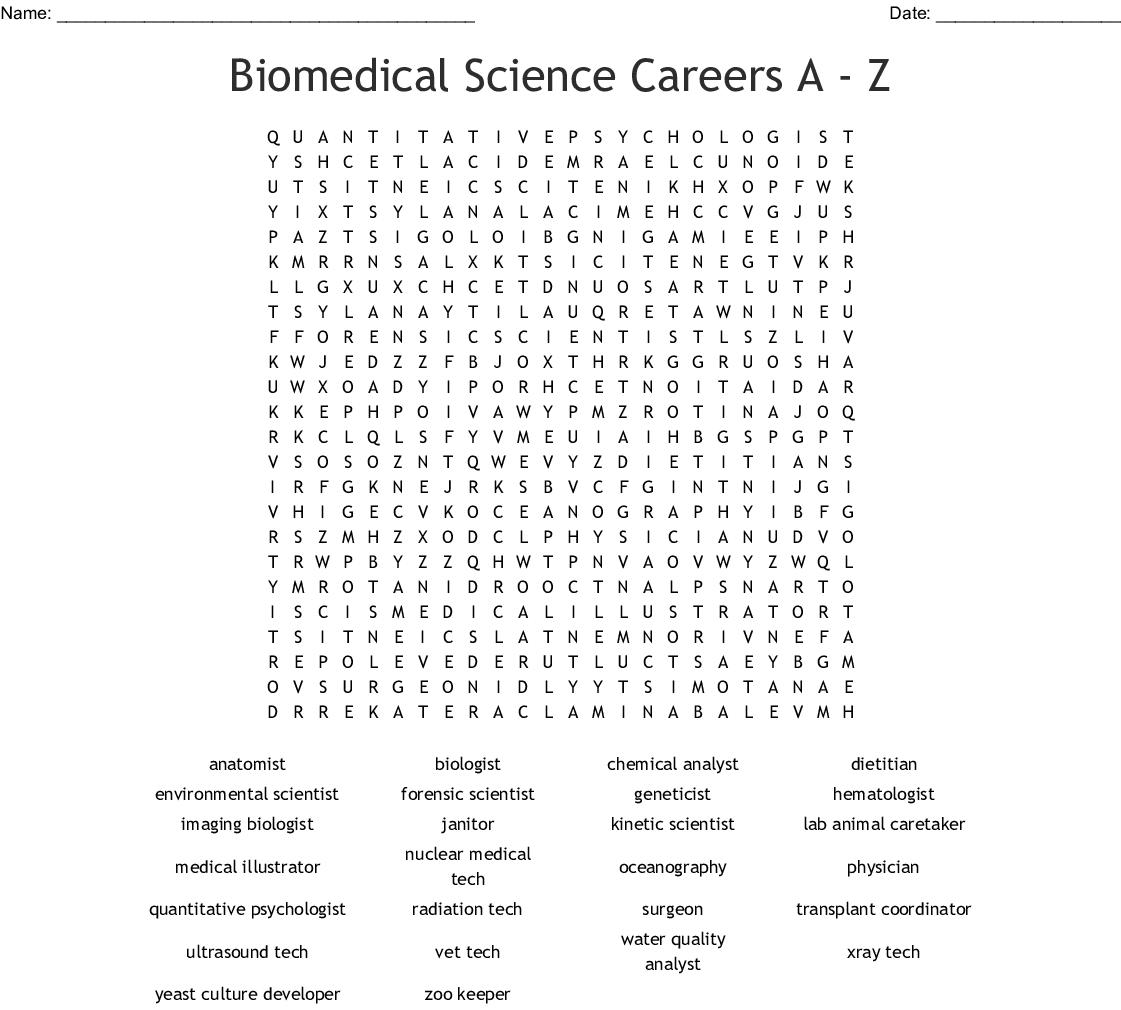 Biomedical Science Careers A