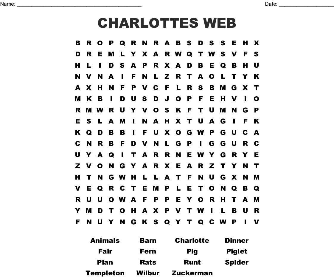 Arachnid Word Search