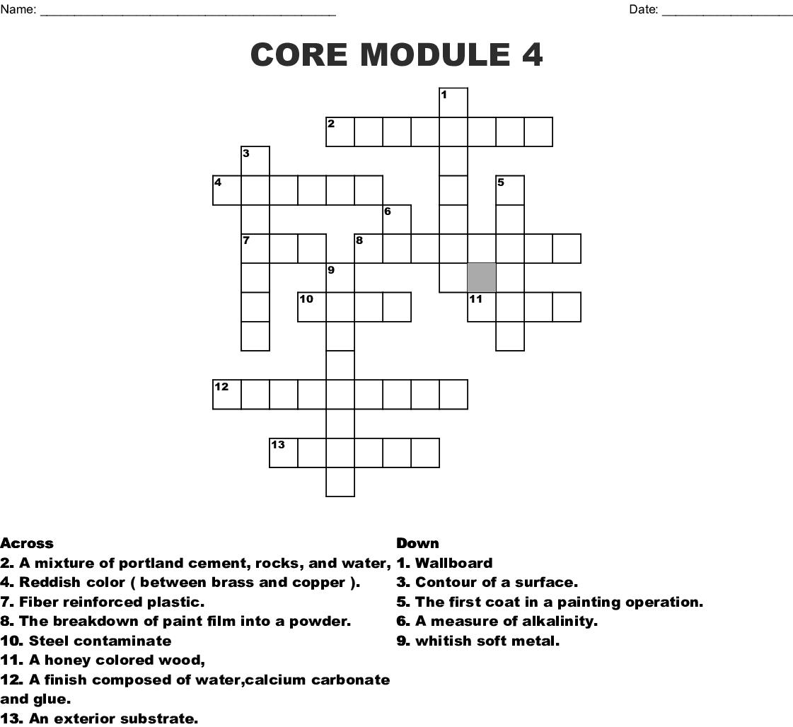 Paint Module 4 Crossword