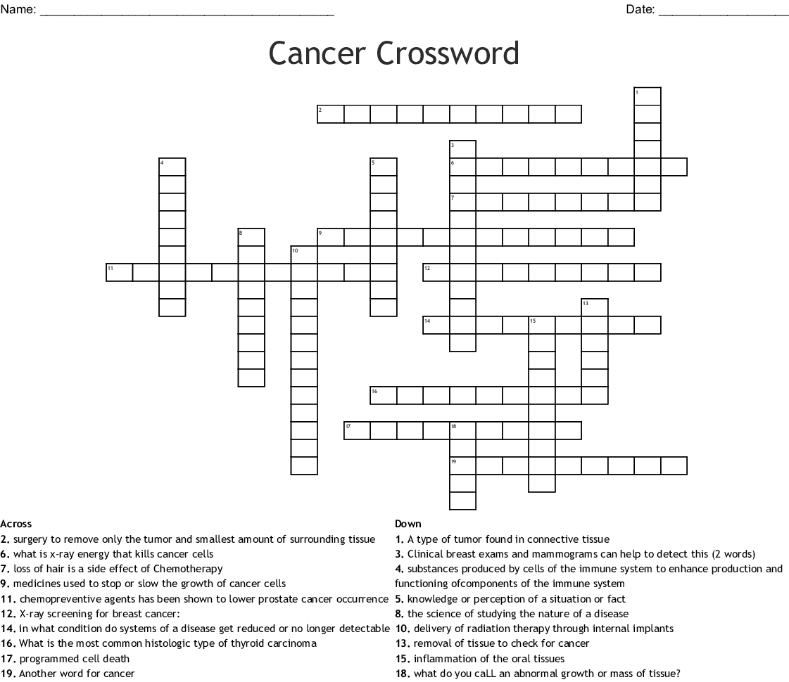 Cancer Word Search