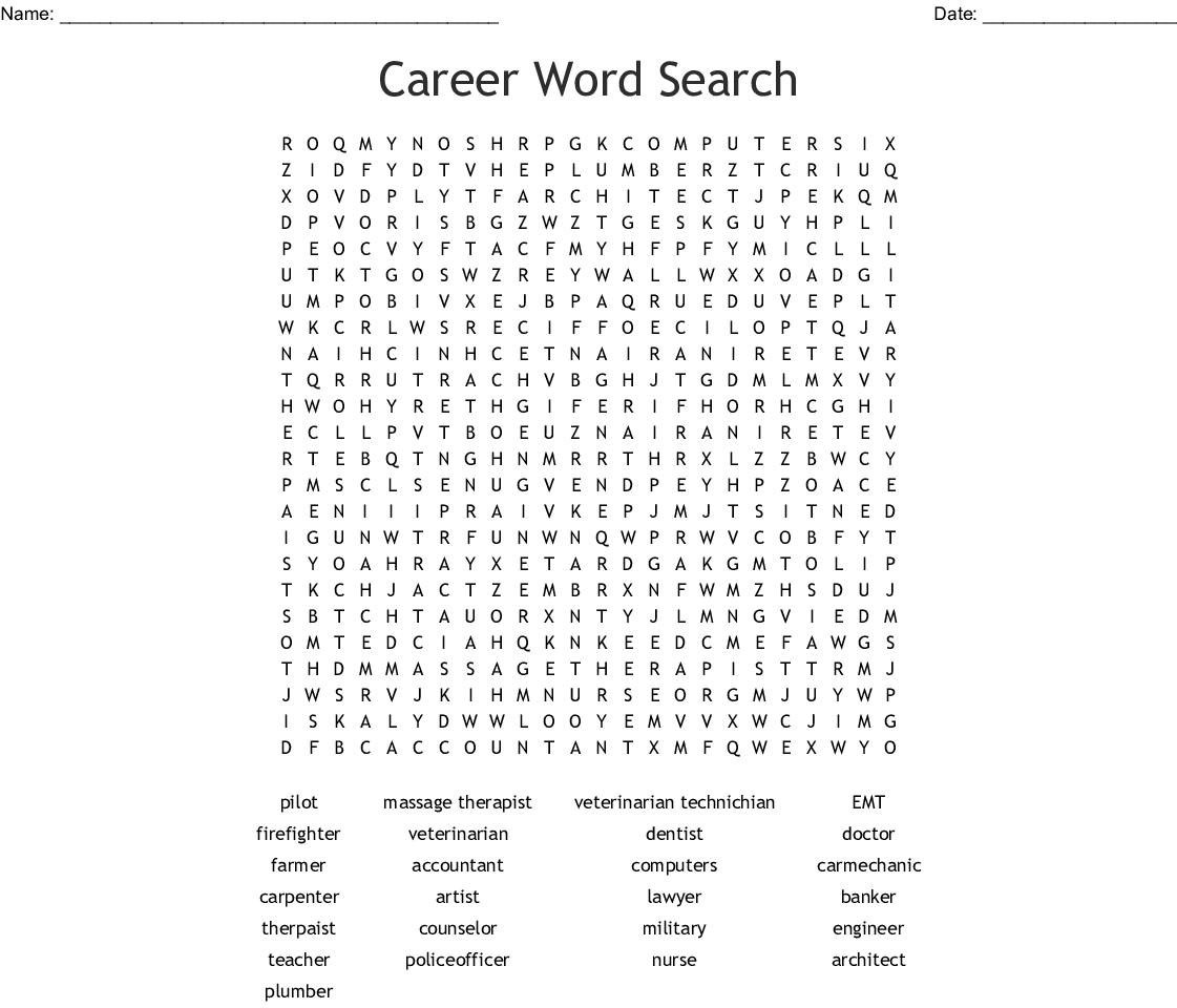 Career Wordsearch