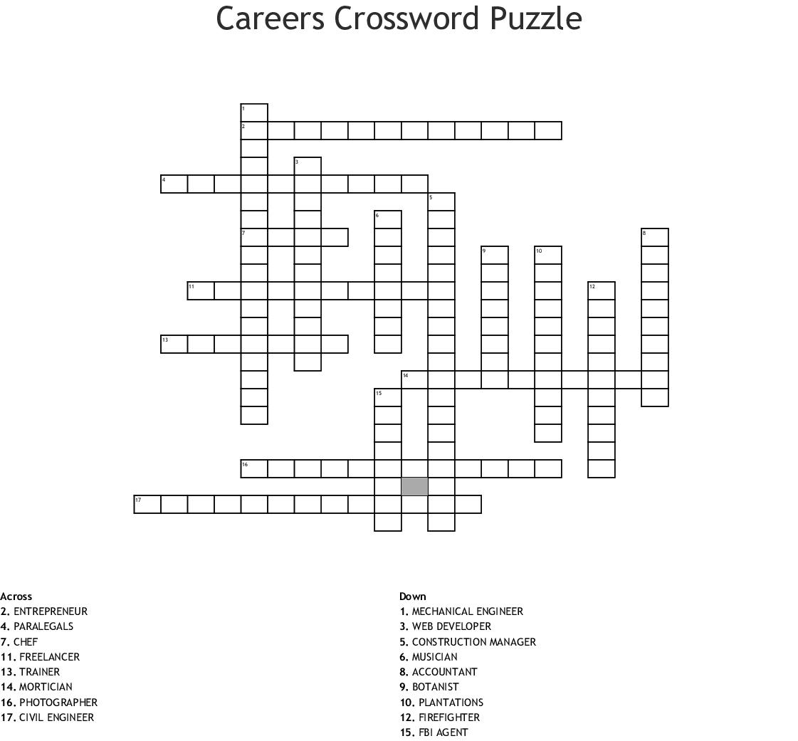 Careers In Music Word Search