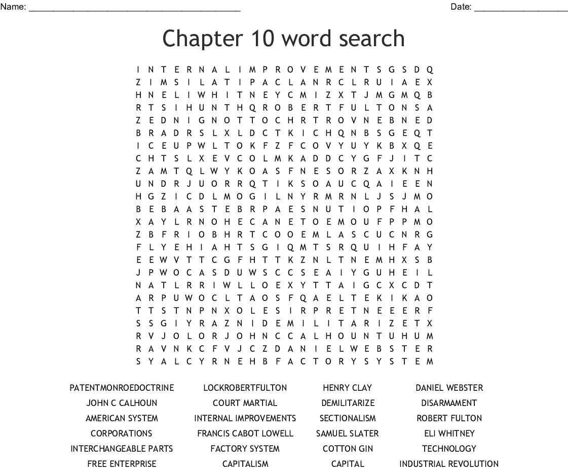 The Industrial Revolution Word Search