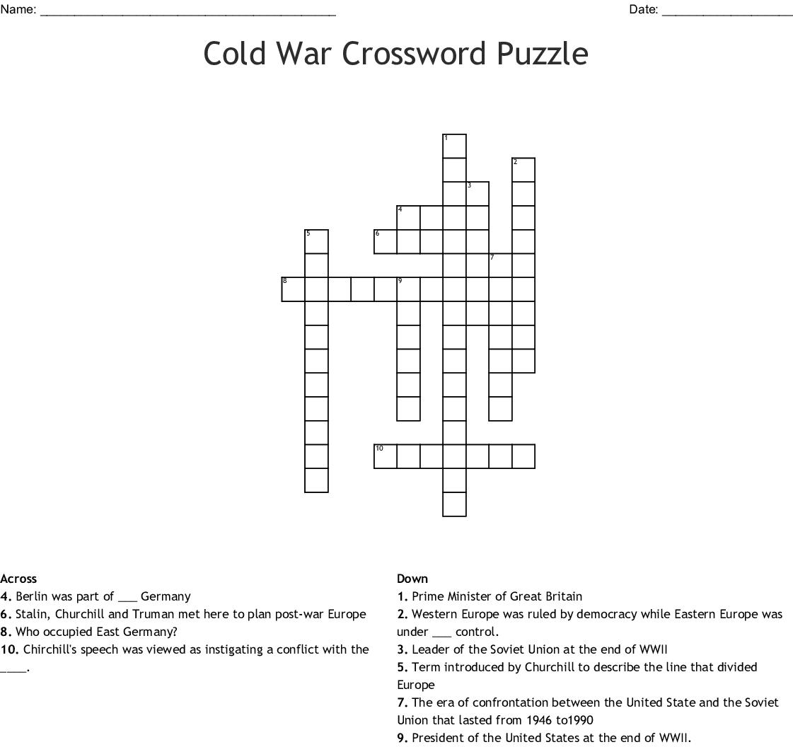 The Cold War Crossword