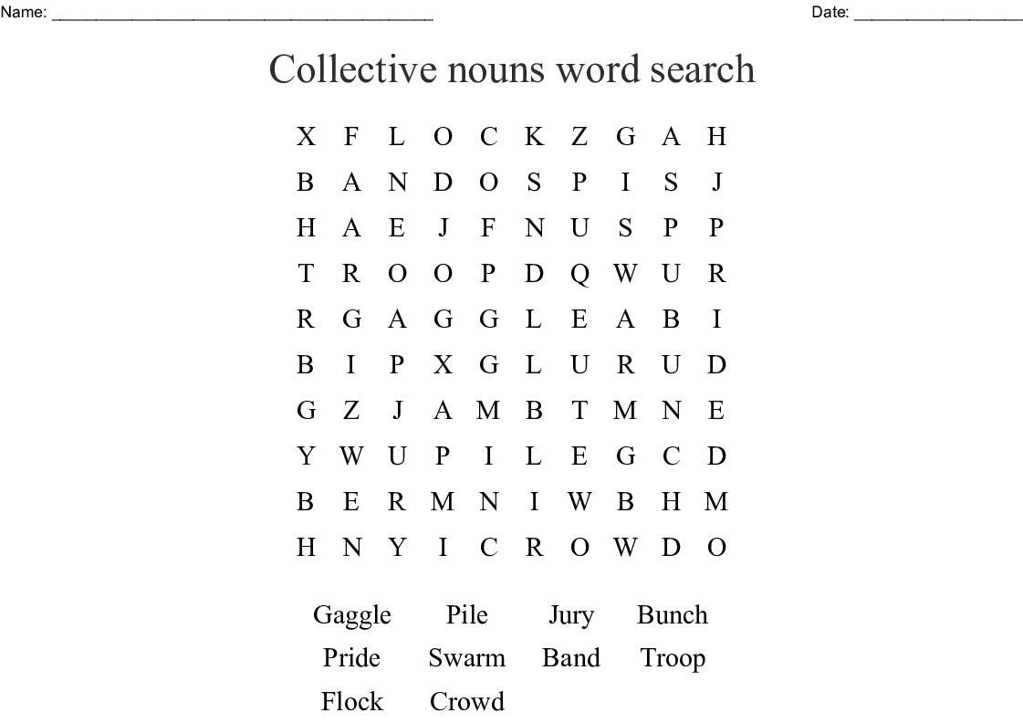 Collective Nouns Worksheet Grade 3