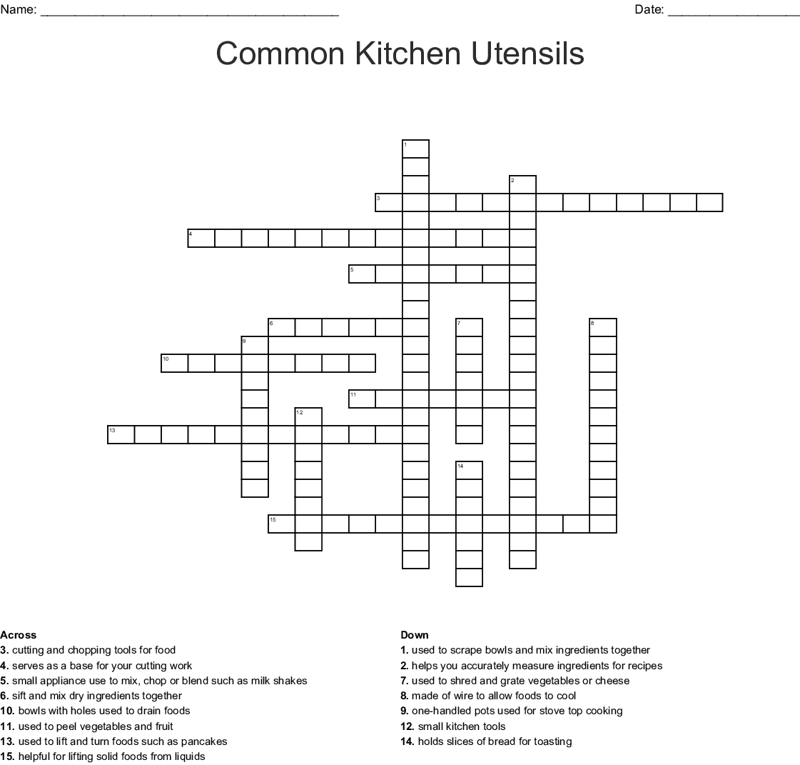 The Chocolate Touch Crossword