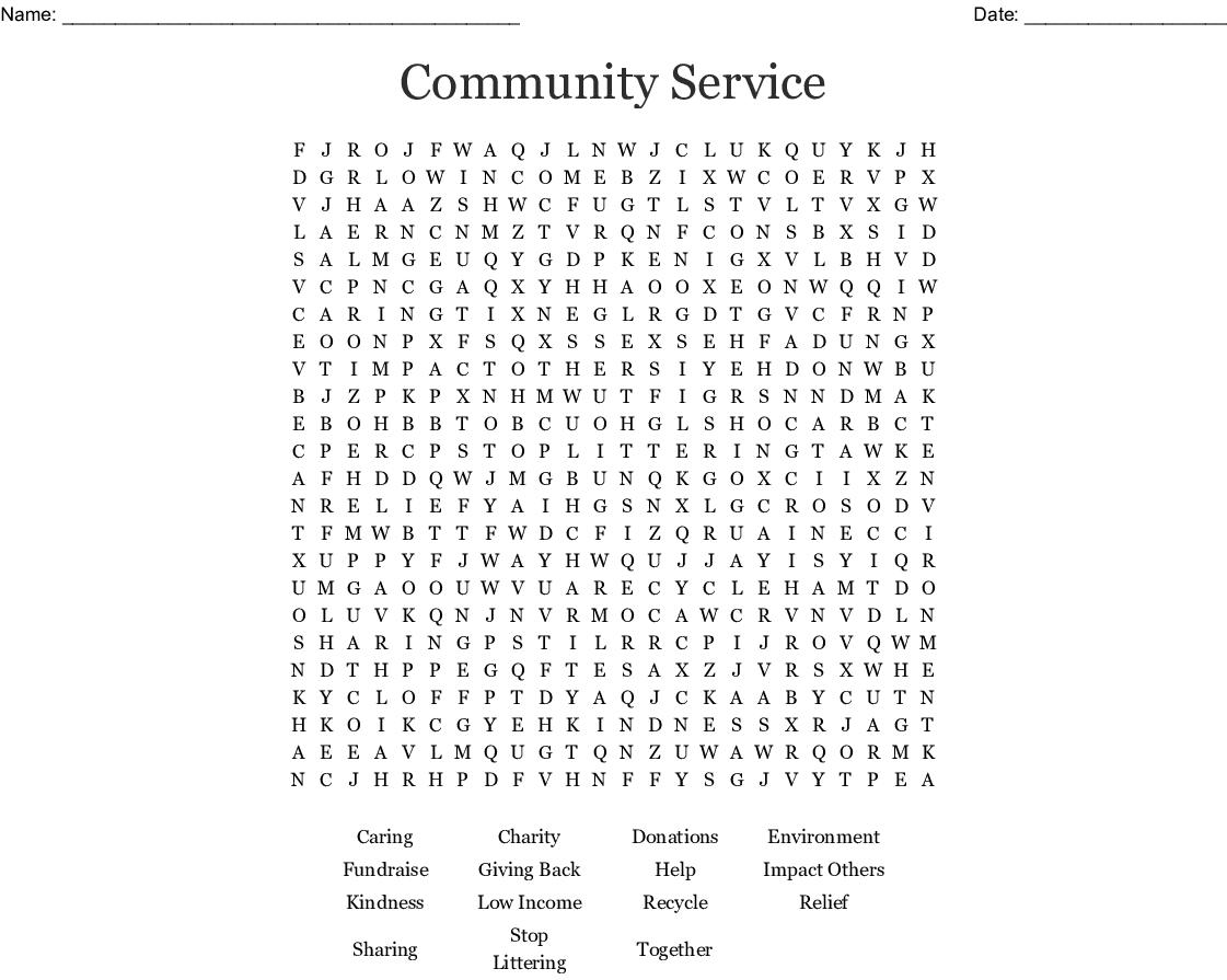 Charity Amp Philanthropy Crosswords Word Searches Bingo