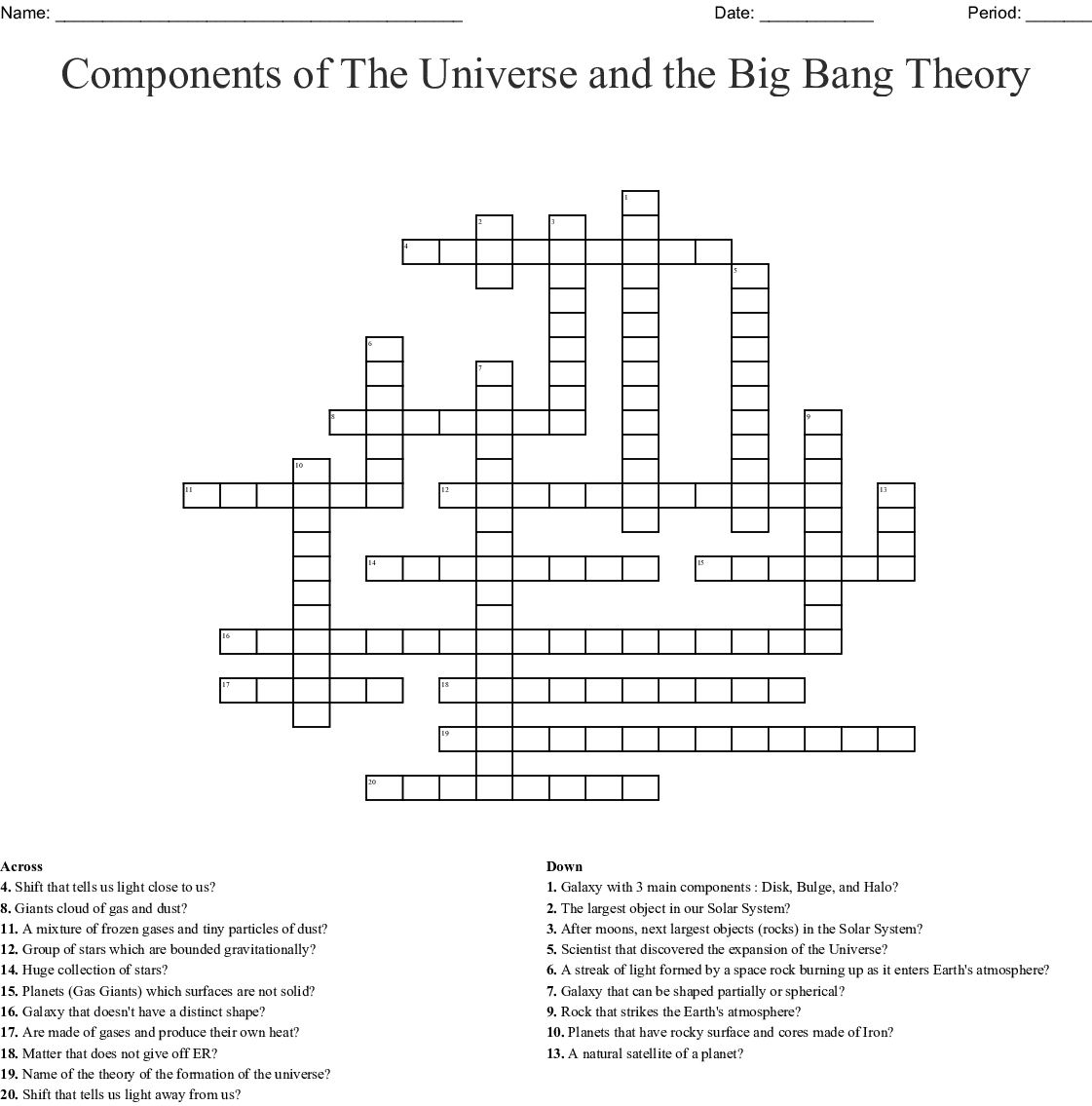 Big Bang Theory Word Search