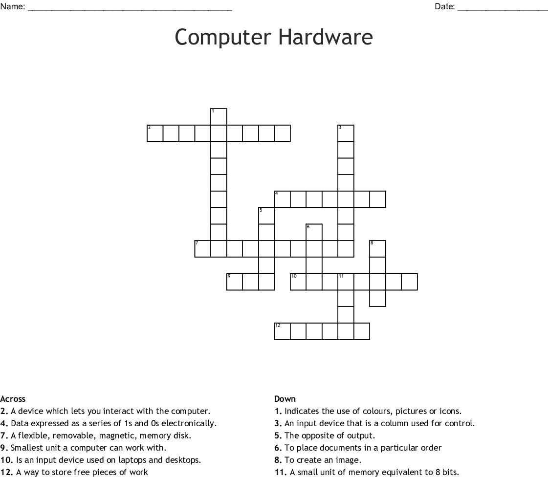 Computer Crossword Puzzle