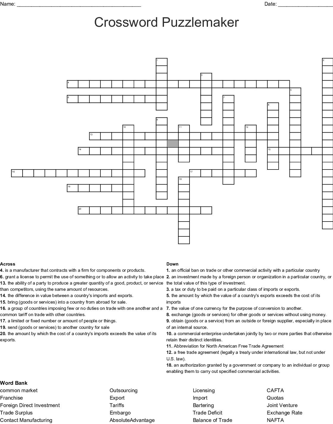 Puzzle Crossword