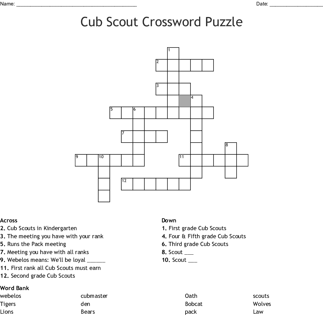 Youth Organizations Amp Resources Crosswords Word Searches