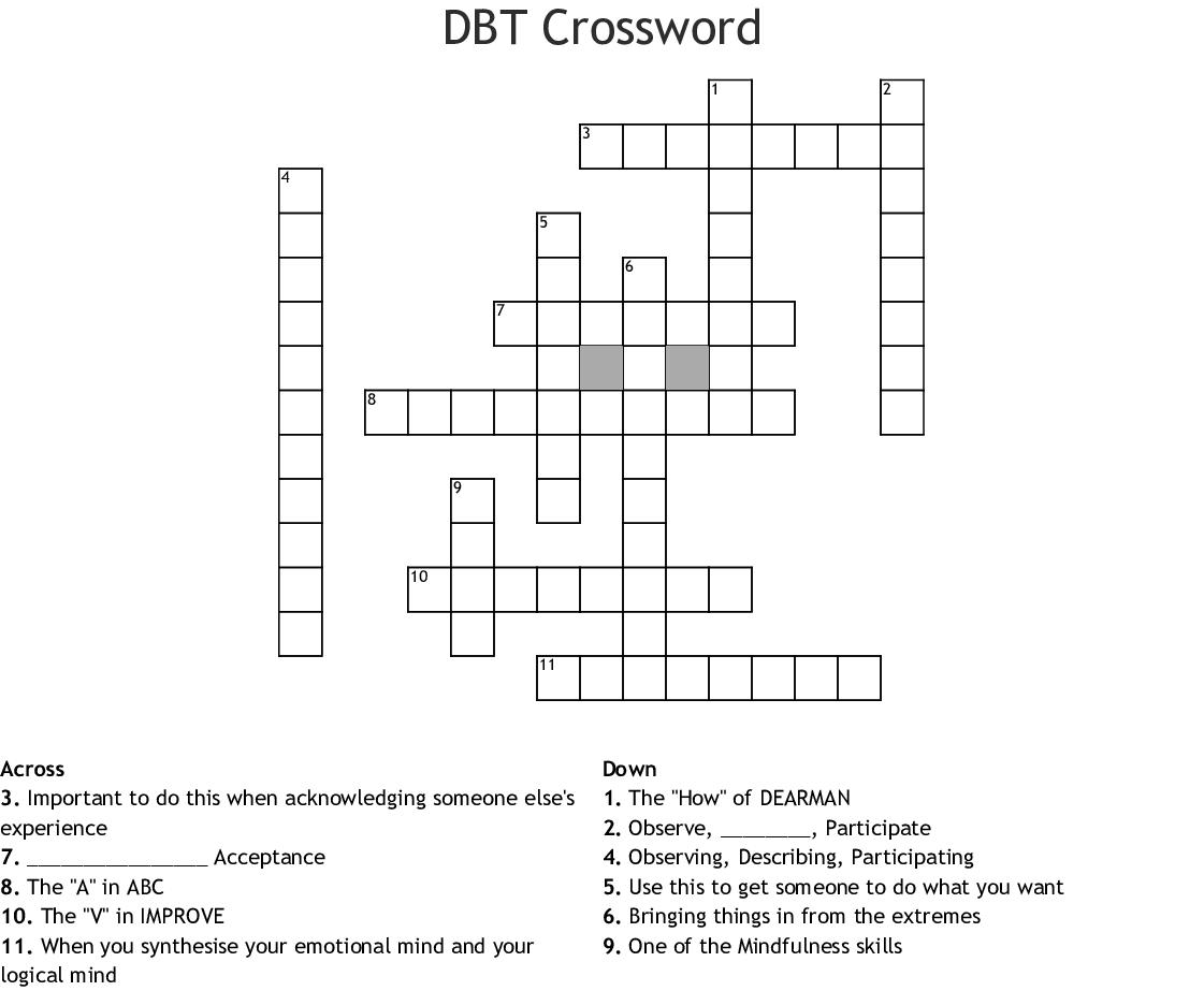 Dbt Crossword