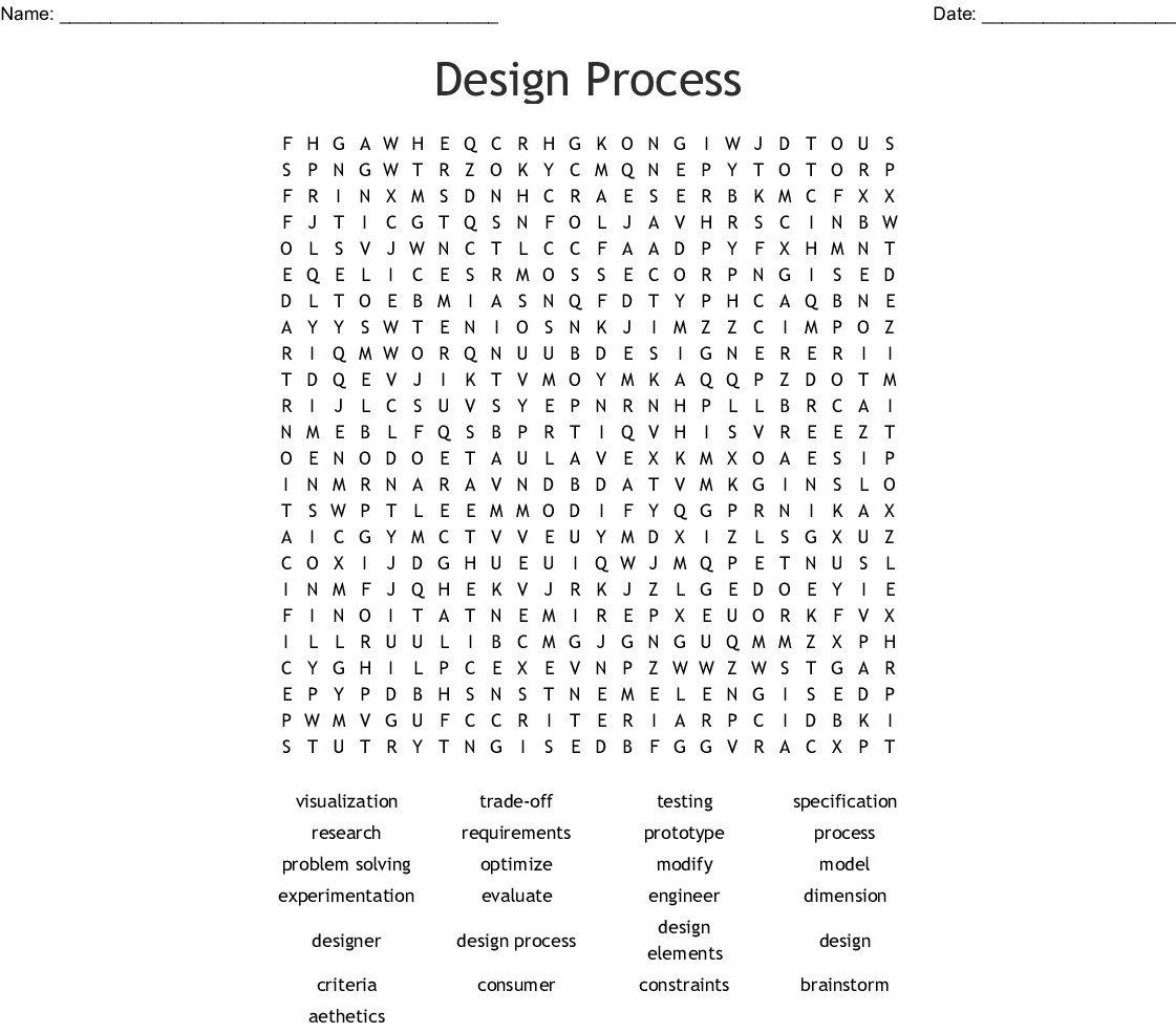 Design Technology Worksheet