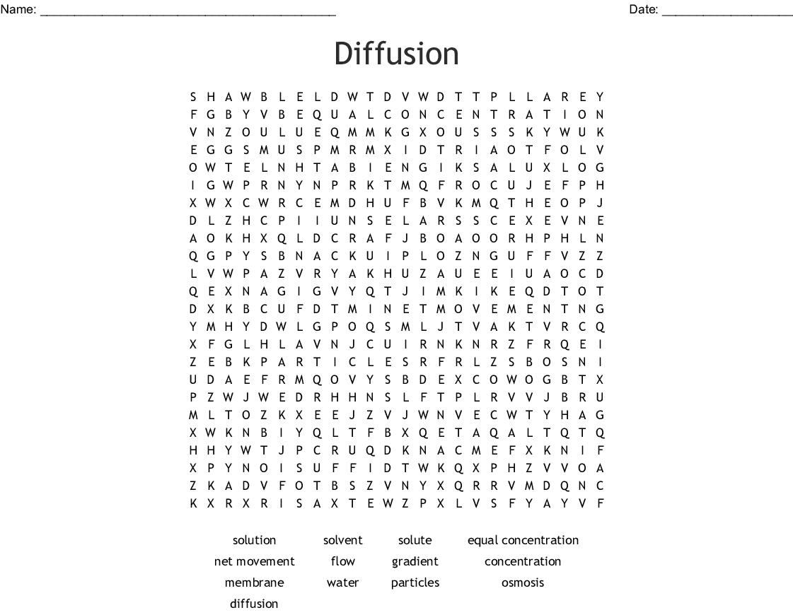 Diffusion Word Search