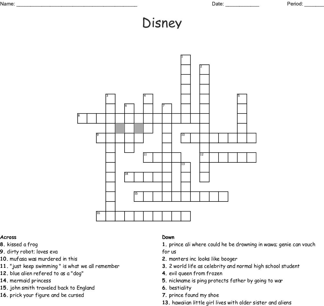 The Little Mermaid Word Search