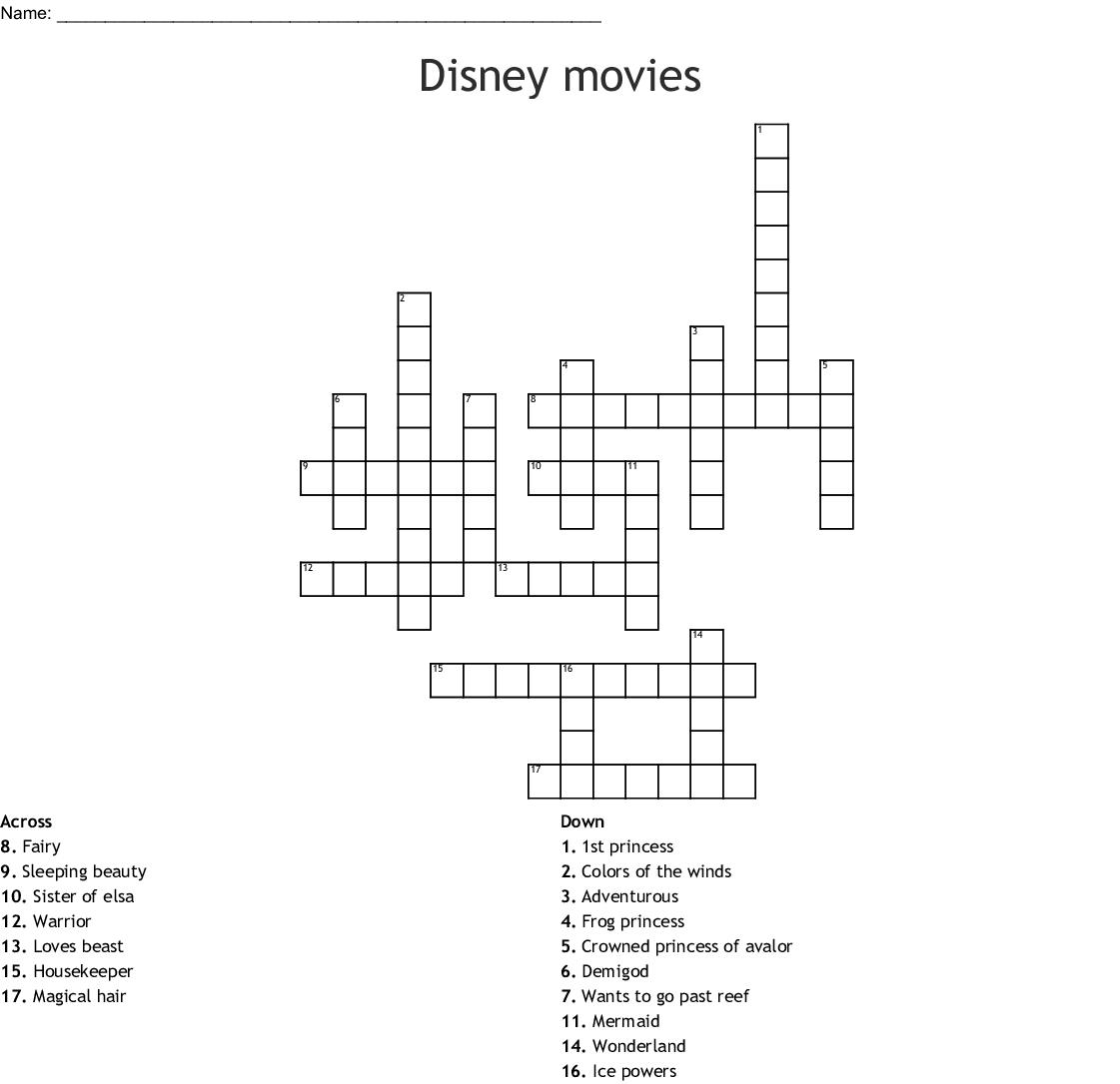 Disney Princess Word Search