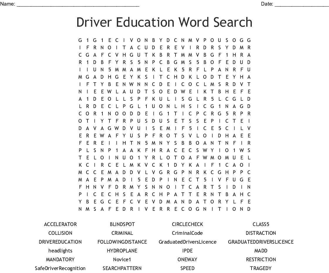 Drivers Ed Chapter 4 Worksheet Answers