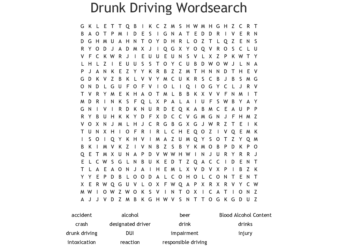 Vehicle Codes Amp Driving Laws Crosswords Word Searches