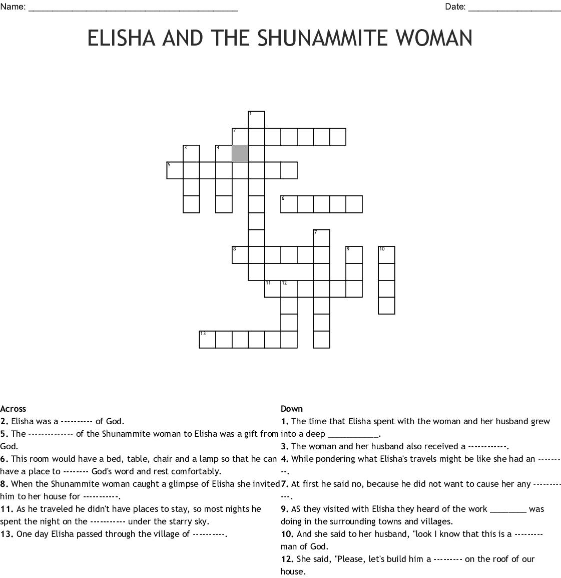 Elisha Word Search