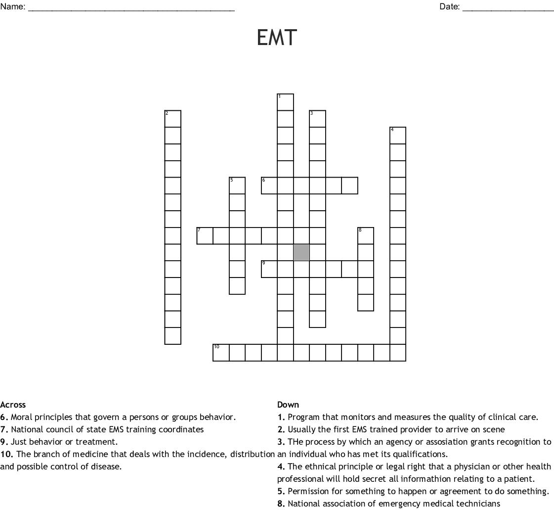 Preparatory Ems Crossword