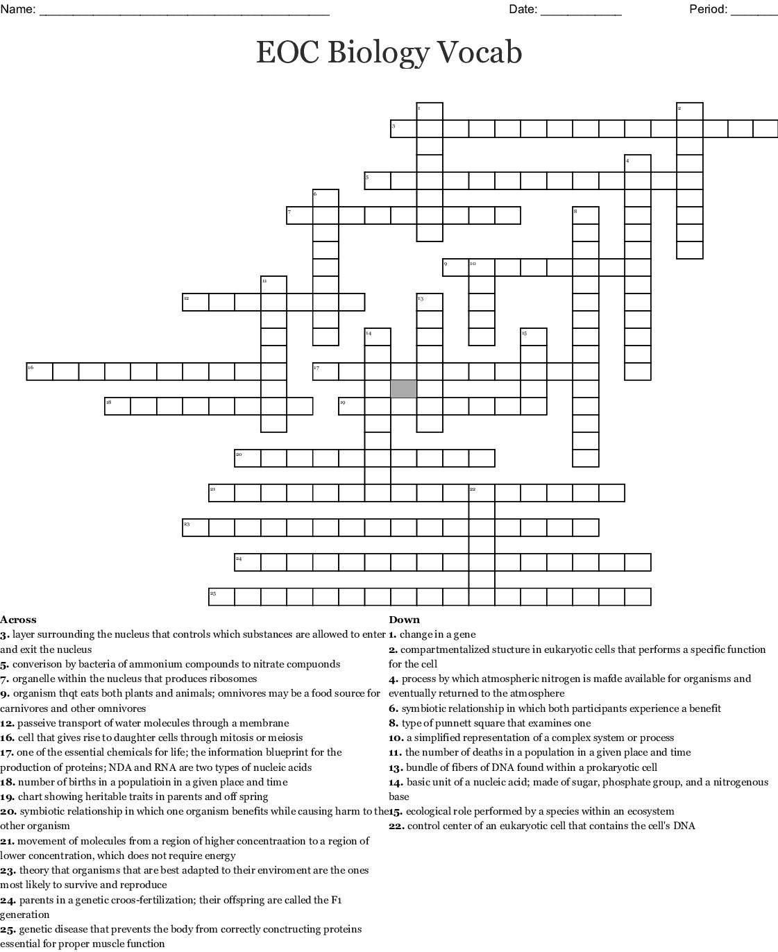 Types Of Symbiosis Worksheet Answer Key