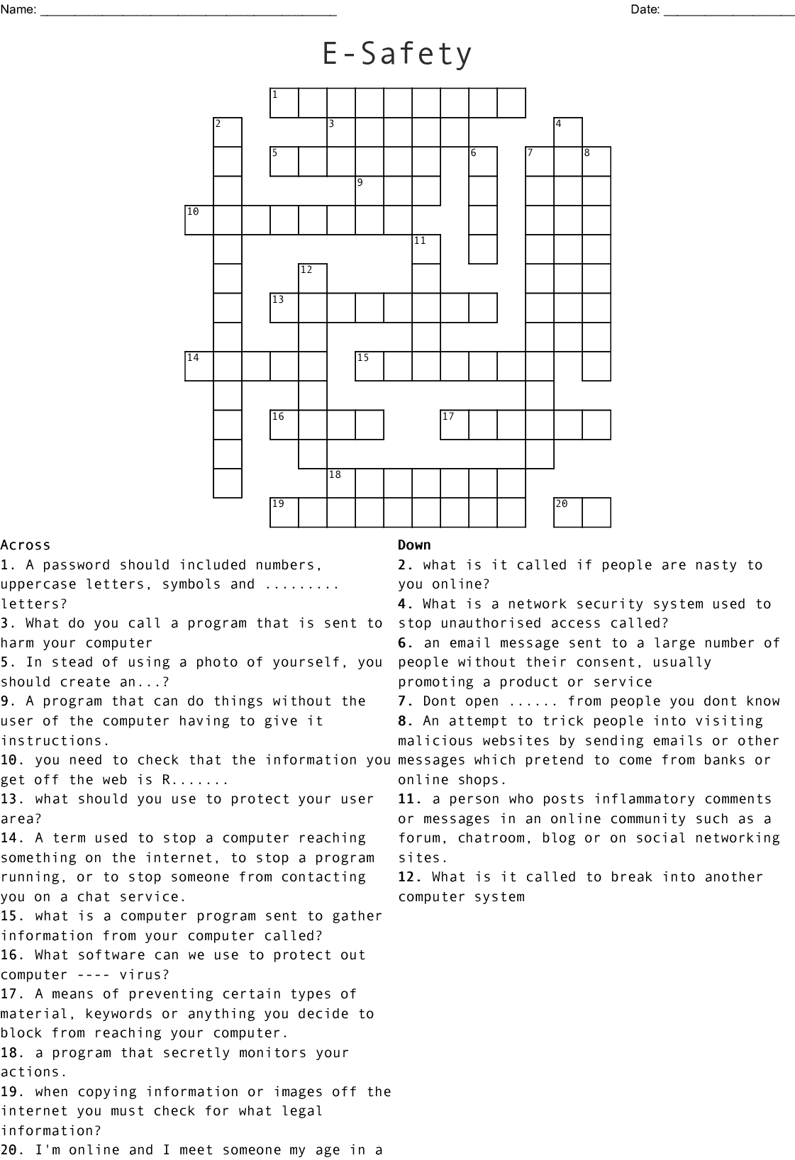 Opsec Is Not Puzzling Crossword