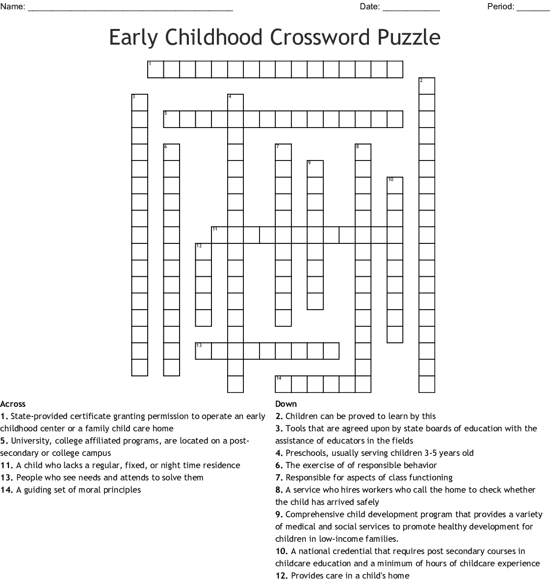 Childcare Wordsearch