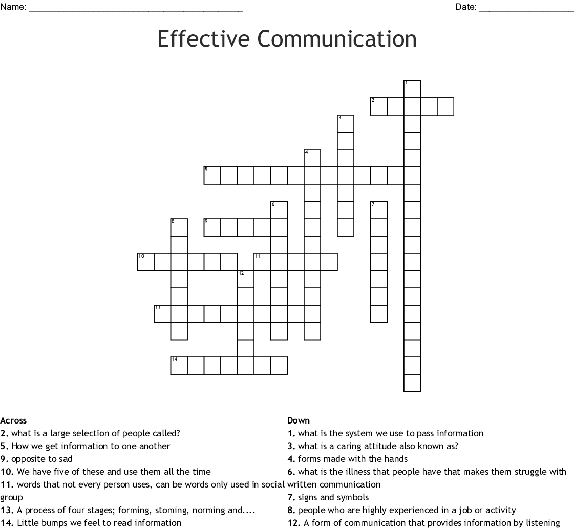 Types Of Communication Word Search