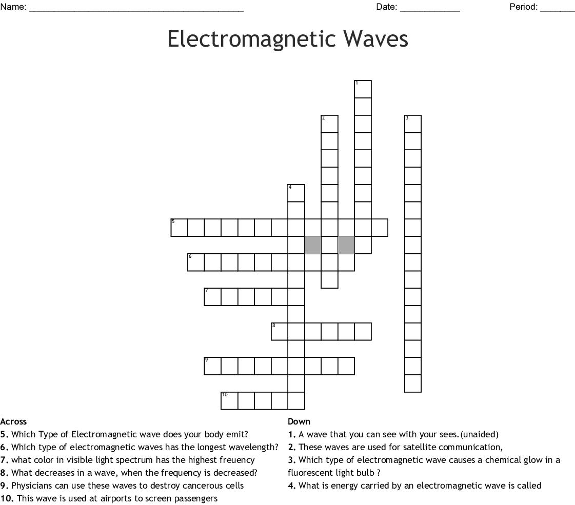Waves And Electromagnetic Spectrum Worksheet Key
