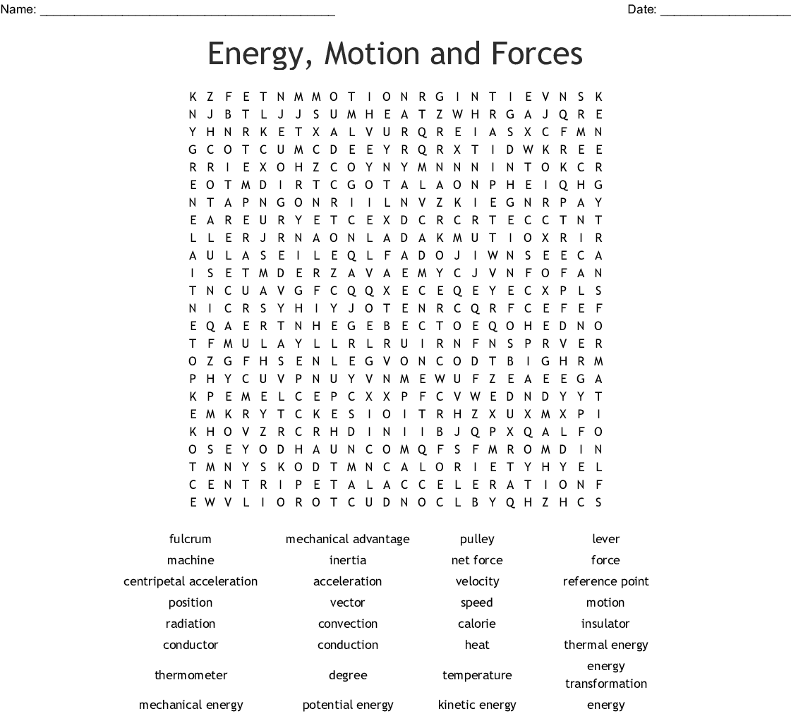 Notions About Motions Worksheet Answers