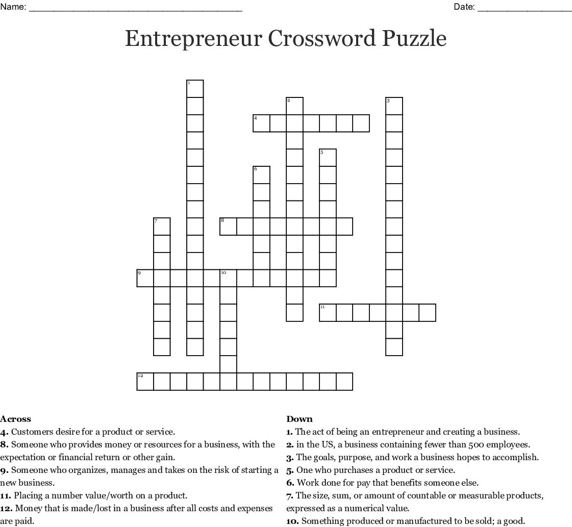 Chapter 7 Crossword