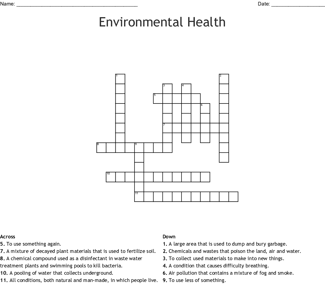 Recycling Crossword
