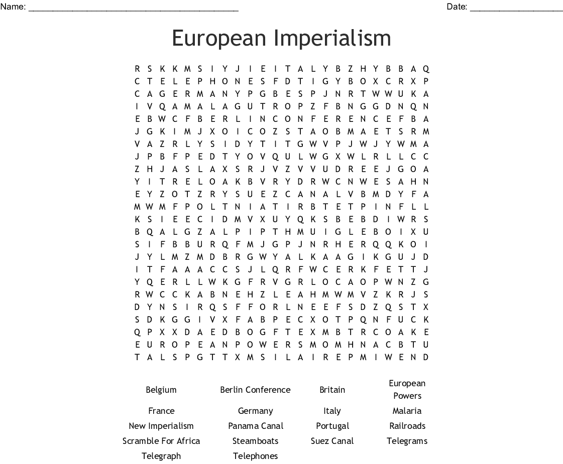 Age Of Imperialism Crossword