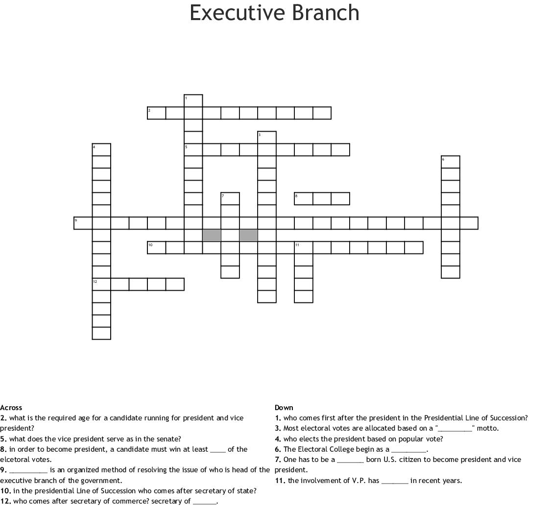 The Executive Branch Crossword Application