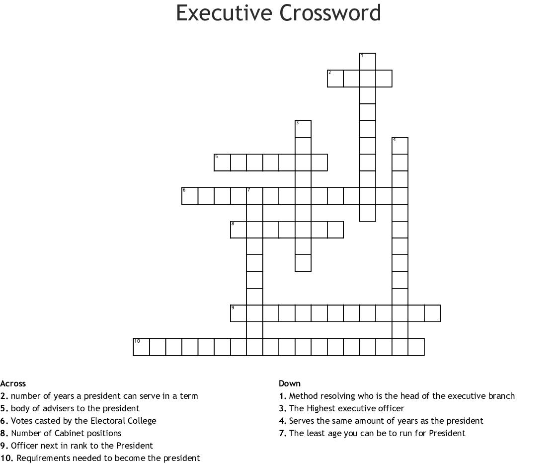 Executive Crossword